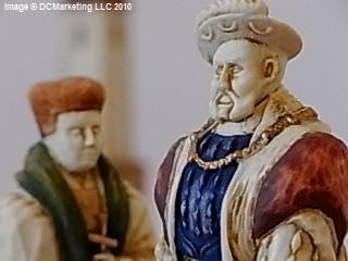 Henry VIII Hand Painted Theme Chess Set